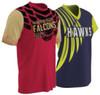 Custom sublimated short-sleeve fan shirts by Code Four Athletics