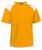 Diadora Grinta short sleeve soccer goalkeeper jersey, Gold, front