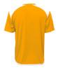 Diadora Grinta short sleeve soccer goalkeeper jersey, Gold, back