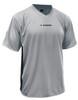 Diadora Calcio soccer jersey, in silver/black