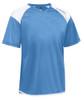 Diadora Grinta short sleeve soccer goalkeeper jersey, Columbia Blue, front