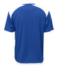 Diadora Grinta short sleeve soccer goalkeeper jersey, Royal, back