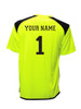 Diadora Grinta short sleeve soccer goalkeeper jersey, with optional name and number