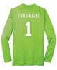 Diadora long-sleeve Leggera soccer jersey, in Seattle Green, with optional name, number on back
