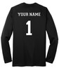 Diadora long-sleeve Italia soccer jersey, in black, with optional name, number on back