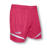 Diadora women's Stadio soccer shorts, in raspberry