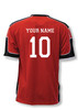 USA Soccer Jersey II, in red/black, shown with optional customization on back