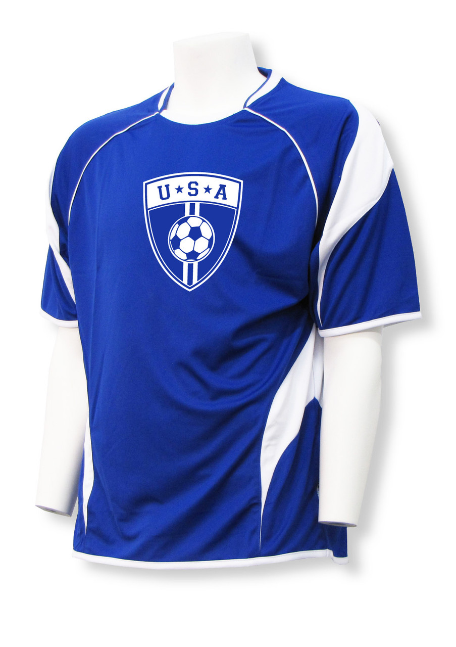 USA Soccer Jersey - customizable with your name, number on back