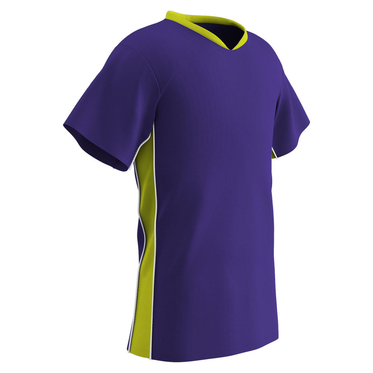 29056e027 Champro Sports Header soccer jersey in purple optic yellow