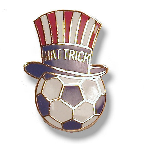 Soccer Hat Trick Pin #54