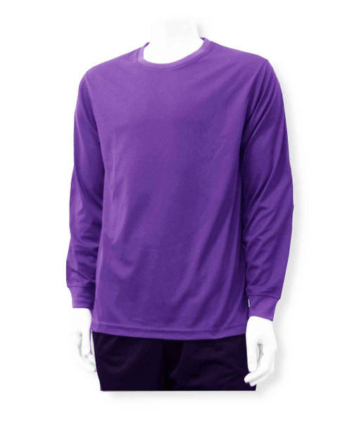 Long-sleeve solid goalkeeper jersey, in purple