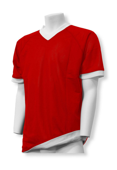 Reversible Soccer Jersey in Red/White