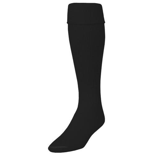 Allsport black solid tube socks