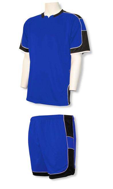 Nova soccer uniform kit in royal/black