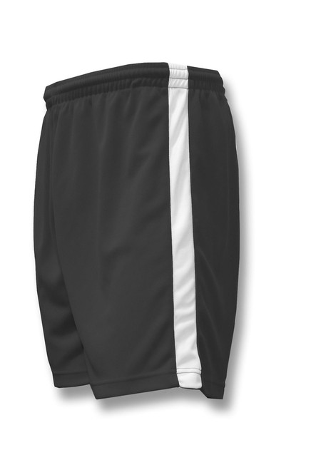 Sweeper soccer shorts in black/white