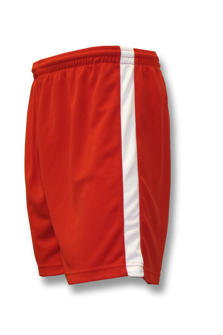 Sweeper soccer shorts in red/white