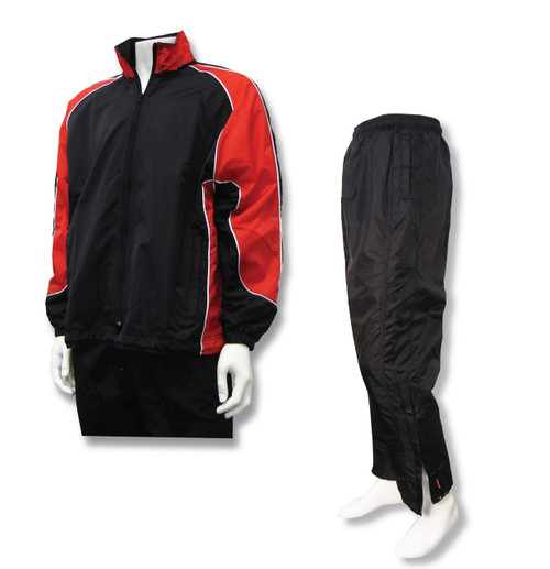 Viper soccer jacket-pant set in red/black