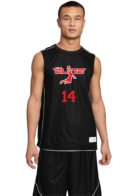 Reversible basketball jersey with logo example