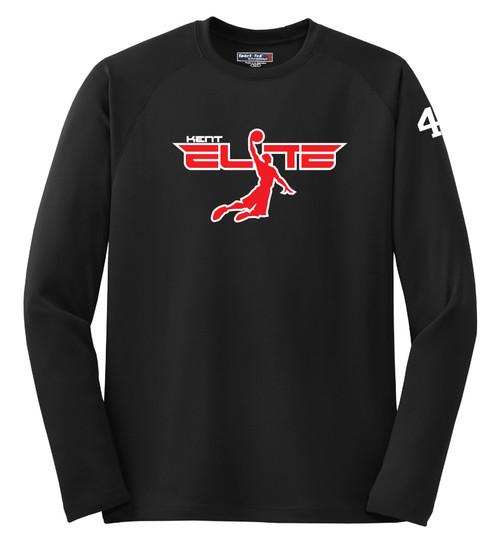 Basketball shooting shirt with logo example