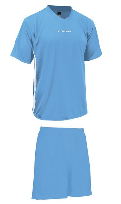 Diadora Calcio soccer uniform kit, in Columbia blue