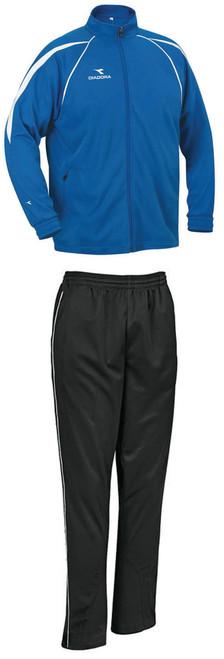 Diadora Rigore soccer warmup set with royal jacket