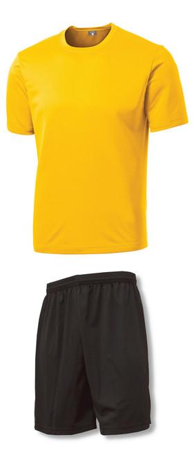9f45c7bcc ... C4 Soccer Training Uniform Kit with gold jersey