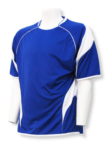 Velocity soccer jersey in royal/white