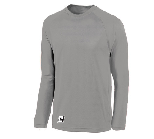 Long sleeve LiteTech training top, in silver