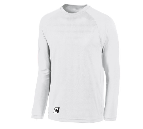 Long sleeve LiteTech training top, in white