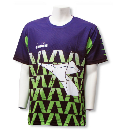 Diadora Fresco s/s goalkeeper jersey, in Purple/Lim