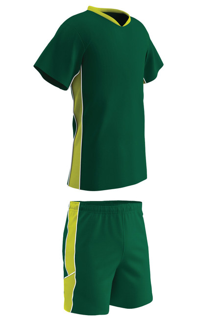 8ac639f0a ... Champro Sports Header soccer uniform kit in forest/optic yellow ...