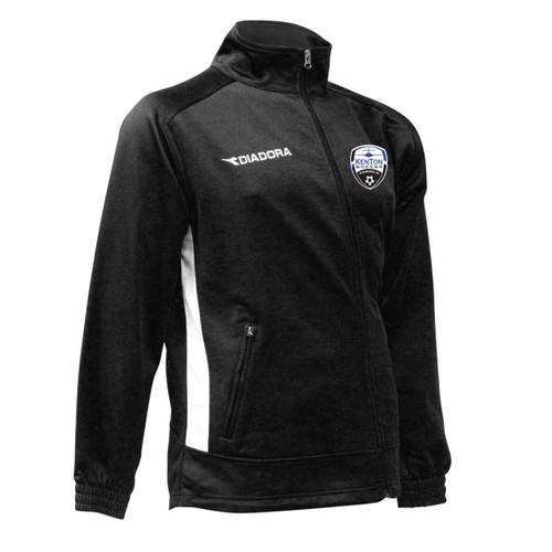 Kenton SA Diadora Calcio Warm-Up Jacket, in Black