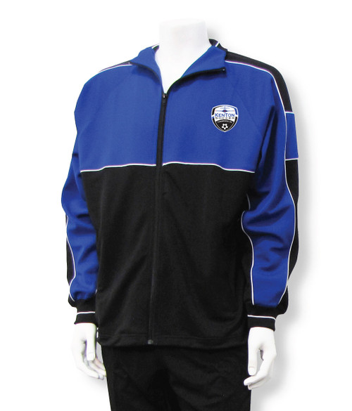 Kenton SA Sparta warmup jacket, in royal/black