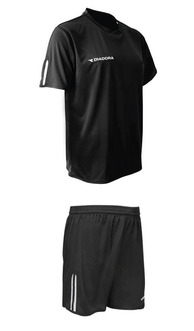 Diadora Valido soccer uniform kit, in black