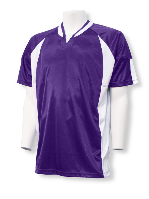 Imperial soccer jersey in purple/white
