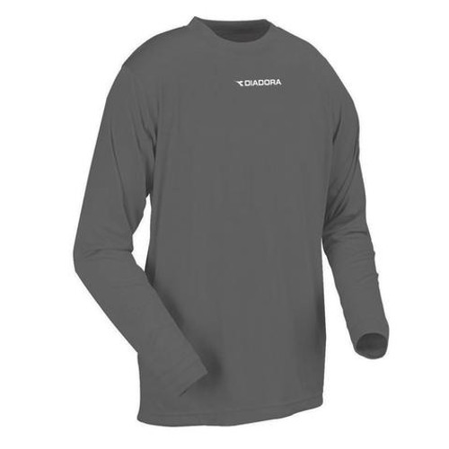 DIadora long-sleeve Leggera performance top, in charcoal
