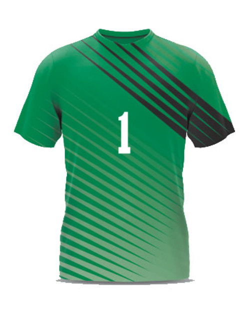 Custom Sublimated Soccer Goalkeeper Jersey - forest/black/white example