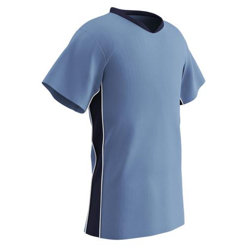 30d479c7ac1 ... Champro Sports Header soccer jersey in light blue navy ...