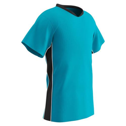 d10d857d9d3 Champro Sports Header soccer jersey in neon blue black ...