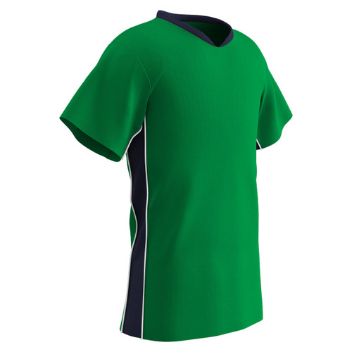 62a675858 ... Champro Sports Header soccer jersey in neon green navy ...