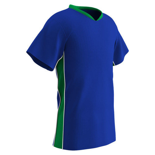 3773354f2 ... Champro Sports Header soccer jersey in royal neon green ...