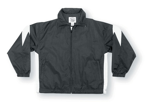 Titan soccer jacket in black/white
