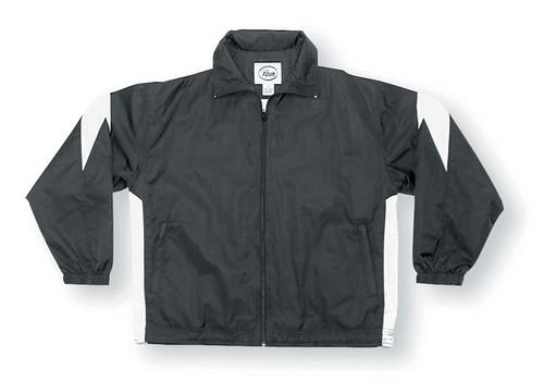 Titan soccer jacket in black/white