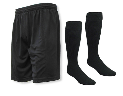 Club soccer shorts and socks kit