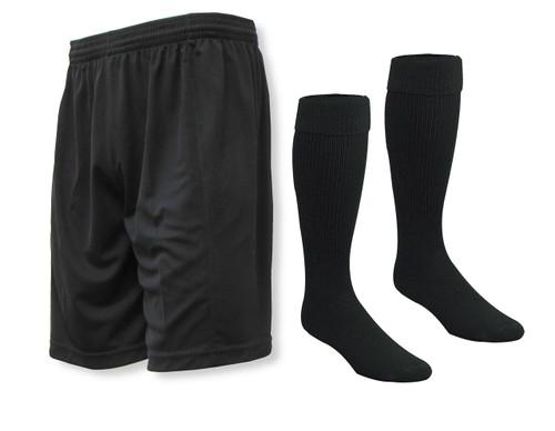 Club soccer shorts and socks kit