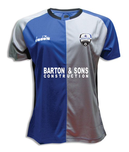 Kenton SA women's home jersey, in royal/gray