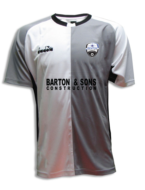 Kenton SA youth/men's home jersey, in white/gray