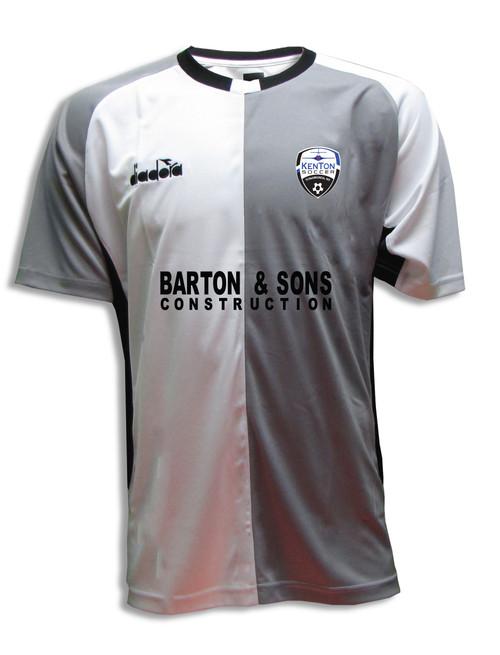 Kenton SA youth/men's home jersey, in white/gray