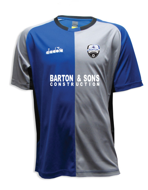 Kenton SA youth/men's home jersey, in royal/gray