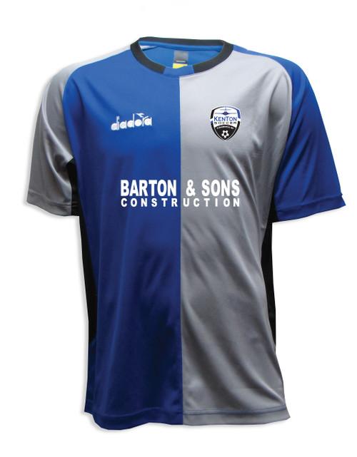 Kenton SA youth/men's home jersey, in royal/gray